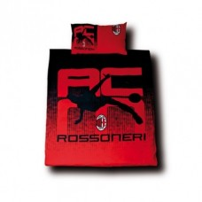 Luxusné bavlnené obliečky AC MILANO Rossonieri, 150/200+50/80