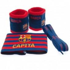 Accessories set FC BARCELONA (2x potítko, kapitánska páska, šnúrky do topánok)