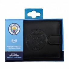 Pánska kožená bezpečnostná peňaženka MANCHESTER CITY RFID