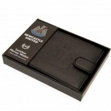 Pánska kožená bezpečnostná peňaženka NEWCASTLE UNITED F.C. RFID