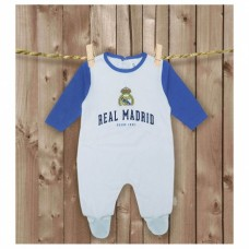 Bavlnené dupačky s dlhým rukávom REAL MADRID C.F. - 3-6 mesiacov (68cm)
