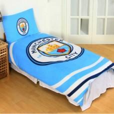 Obojstranné posteľné obliečky MANCHESTER CITY Pulse, 135/200+50/75cm