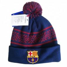 Štýlová zimná úpletová čiapka FC BARCELONA Snowflake