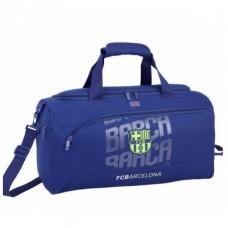 SAFTA Športová taška 50cm FC BARCELONA Blue Neon, 711826553