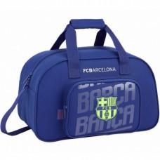 SAFTA Športová taška 40cm FC BARCELONA Blue Neon, 711826273