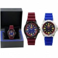 Luxusné pánske hodinky FC BARCELONA Bordové, 7004012