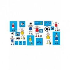 Dekoračné nálepky FUTBAL KIDS Quick-Sticks kolekcia 44ks