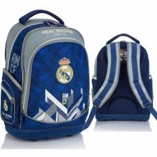 Školský batoh s pevným dnom REAL MADRID Blue, RM-180, 502019011