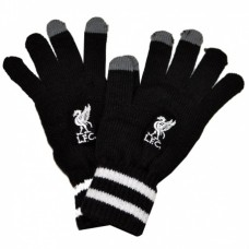 Úpletové rukavice FC LIVERPOOL Black Touch-Screen