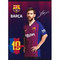 FC BARCELONA, Zošit A5 štvorčekový (5x5mm), 16 listov, mix vzorov, 102019001