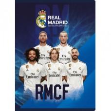 REAL MADRID, Zošit A5 linajkový (9mm), 32 listov, mix vzorov, 102019015