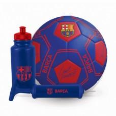 Futbalová darčeková sada FC BARCELONA (lopta, pumpa, plastová fľaša)