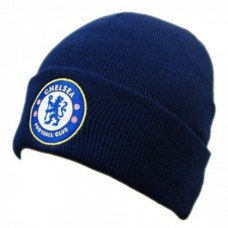 Štýlová zimná úpletová čiapka FC CHELSEA Navy Cuff