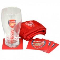 Sklenený pohár / minibar set ARSENAL