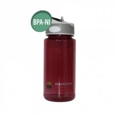 Športová fľaša s výsuvnou slamkou FC BARCELONA Red Tritan 600ml