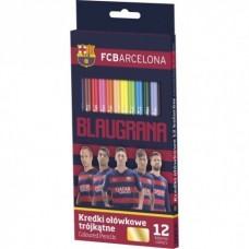 Ergonomické trojhranné farbičky 12ks FC BARCELONA, 312116005