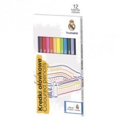 Ergonomické trojhranné farbičky 12ks REAL MADRID, 312116006