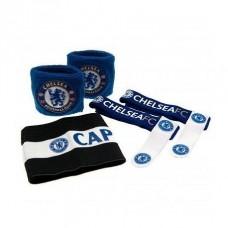 Accessories set FC CHELSEA (2x potítko, kapitánska páska, 2x držiak chráničov)