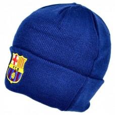 Štýlová zimná úpletová čiapka FC BARCELONA Navy Cuff