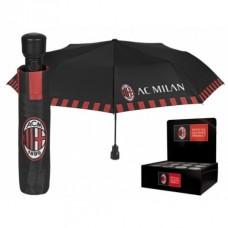 PERLETTI® Skladací vystreľovací dáždnik AC MILAN Crest