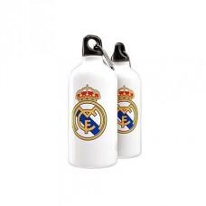 ALU fľaša na pitie s karabínou REAL MADRID White 500ml