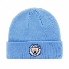 Štýlová zimná úpletová čiapka MANCHESTER CITY Sky Cuff (6874)