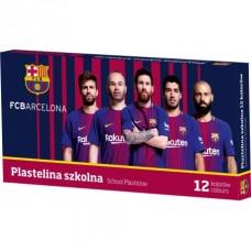 ASTRA Školská plastelína FC BARCELONA, 12 farieb, 303218005