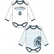 Bavlnené body s dlhým rukávom REAL MADRID (RM801) - 3-6 mesiace (68cm)