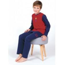 Chlapčenské bavlnené pyžamo FC BARCELONA (BC03193) - 14 rokov (164cm)