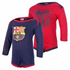 FC BARCELONA - BODY s dlhým rukávom /2ks (BC18029) - 18-24 mesiacov (92cm)