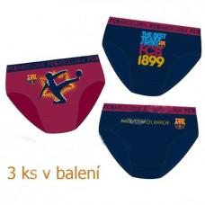 FC BARCELONA ´CLUB´ - BAVLNENÉ SLIPY / 3ks (bc01001) - 10 rokov (140cm)