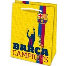Darčeková taška 32 x 23cm FC BARCELONA žltá (7186)