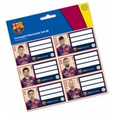 FC BARCELONA - NALEPOVACIE ŠTÍTKY NA ZOŠITY 18ks (6338)