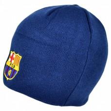 Štýlová zimná úpletová čiapka FC BARCELONA Navy