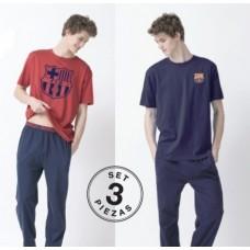 Chlapčenské bavlnené pyžamo FC BARCELONA 3dielne (BC03301) - 6 rokov (116cm)