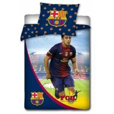 Obojstranné bavlnené posteľné obliečky FC BARCELONA Xavi (7136)
