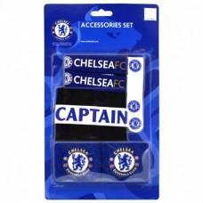 Set FC CHELSEA 2x potítko, kapitánska páska, 2x držiak chráničov (4887)