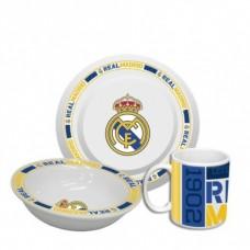 Jedálenská súprava REAL MADRID tanier, miska, hrnček