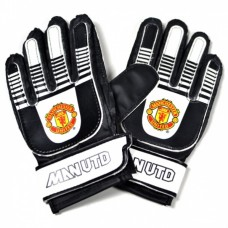 MANCHESTER UTD ´BLACK YOUTH´ - BRANKÁRSKE RUKAVICE  10+ (6026)