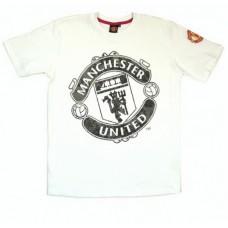 Chlapčenské bavlnené tričko MANCHESTER UTD White (1732) - 4 roky (104cm)