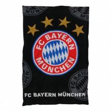Obojstranné bavlnené posteľné obliečky BAYERN MÜNCHEN Black Logo (9673)