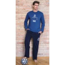 Pánske bavlnené pyžamo REAL MADRID Blue (RM03132) - XXL (extra extra large)