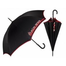 PERLETTI Pánsky automatický dáždnik AC MILAN Black (0789)