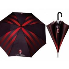 PERLETTI Pánsky automatický dáždnik AC MILAN Stripe (0505)