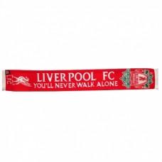 Pletený šál pre fanúšikov FC LIVERPOOL YNWA
