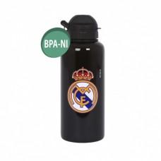 REAL MADRID ´BLACK´ - ŠPORTOVÁ FĽAŠA aluminium (0363)