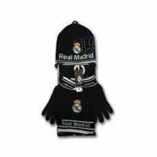 REAL MADRID ´BLACK´ - ZIMNÝ SET (čiapka, rukavice, šál)