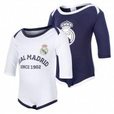 Bavlnené body s dlhým rukávom 2ks REAL MADRID (RM18018) - 18-24 mesiacov (92cm)