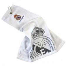 Golfový uterák REAL MADRID Tri-Fold biely (1242)