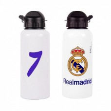 REAL MADRID ´No.7 RONALDO´ - ŠPORTOVÁ FĽAŠA aluminium (0455)